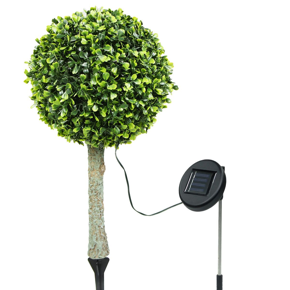 2 outdoor garden 30 led solar topiary tree bush landscape path light 2 outdoor garden 30 led solar topiary tree bush landscape path light yard lamp aloadofball