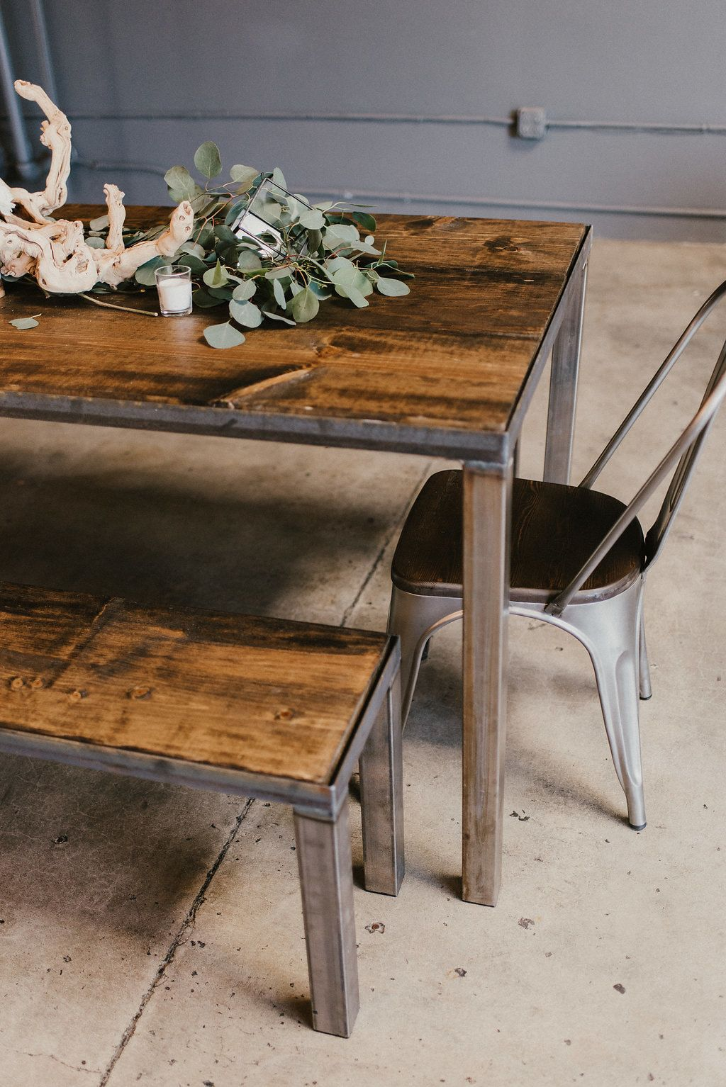 Brewery Warehouse Vintage Industrial Farmhouse Farm House Table
