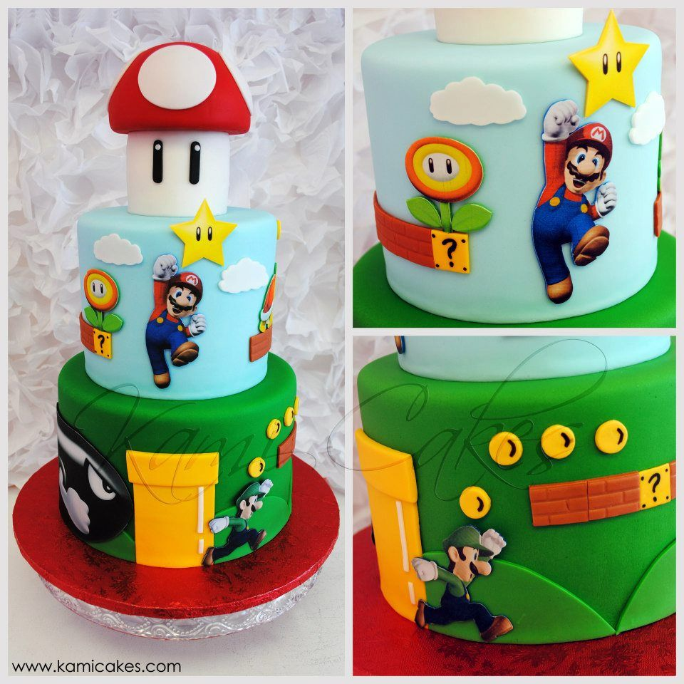 super mario party cake by kami cakes children 39 s cakes. Black Bedroom Furniture Sets. Home Design Ideas