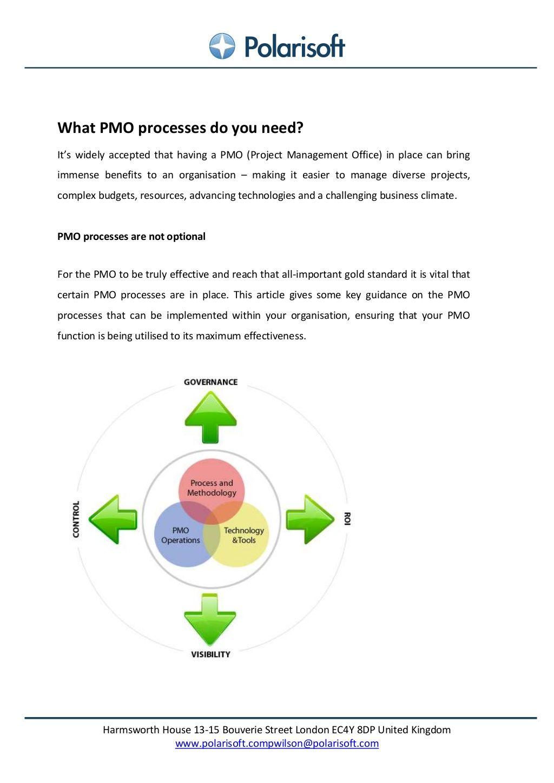 PMO processes by Polarisoft via slideshare Project