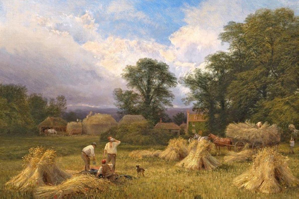 Harvest Time. Vicat Cole (1860) Bristol Museum and