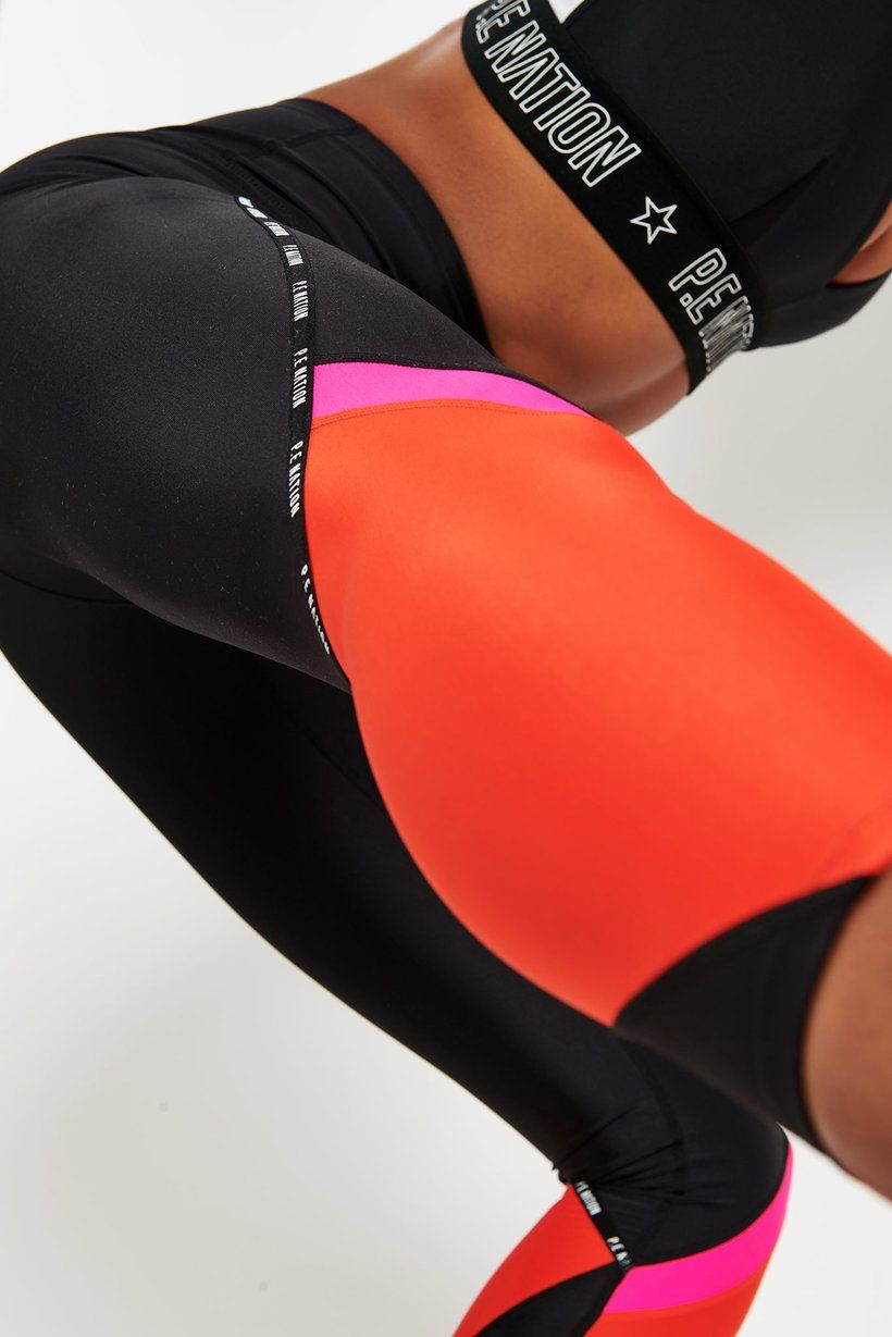 PE Nation Engarde Legging Black leggings. Breathe new