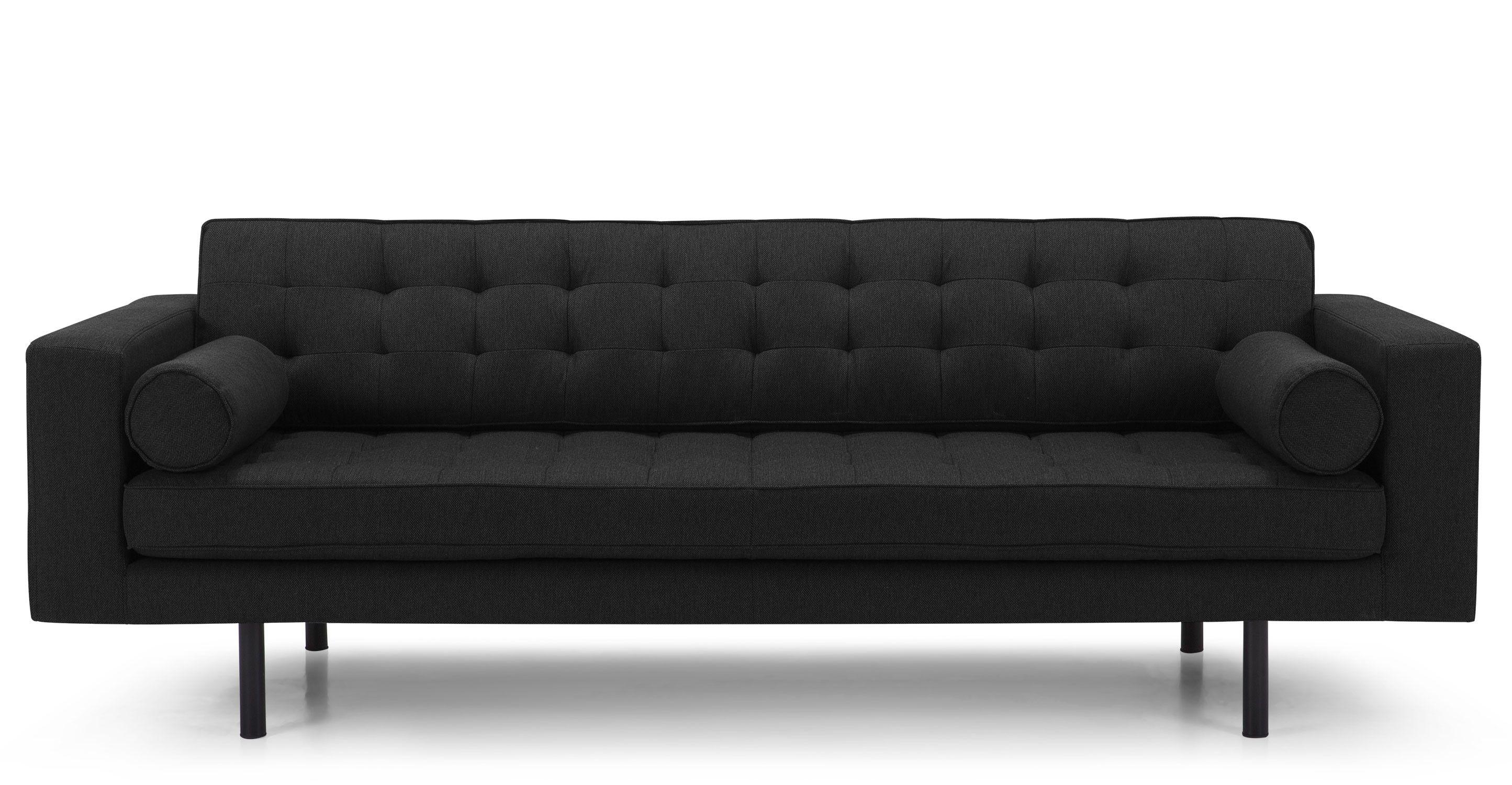 Fielding 3-Sitzer-Sofa, Chevron Grau