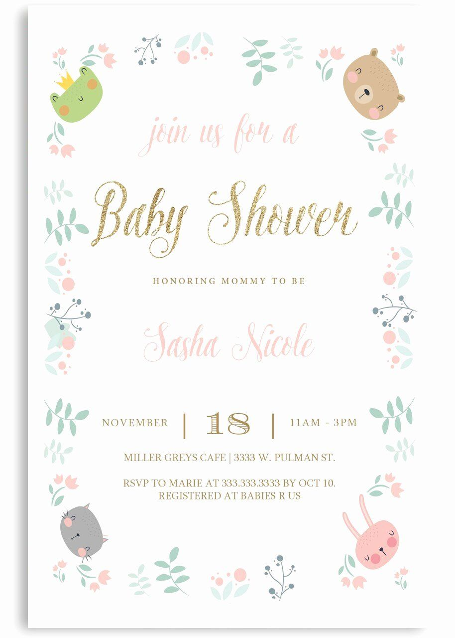 12 Baby Shower Invitation Pictures in 2020 Sample baby