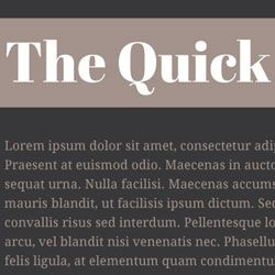 Quick Brown Fox A Web Font Pairing Reference Abril Fatface