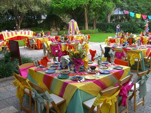 Festive fiesta tables.