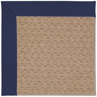 Capel Zoe Grassy Mountain Machine Tufted Navy/Brown Indoor/Outdoor Area Rug Rug Size: