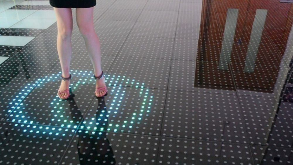 new design smart induction dance floor led rgb stage light floor