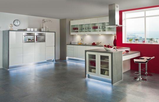 Des LED pour une cuisine lumineuse Pour mettre en valeur les façades
