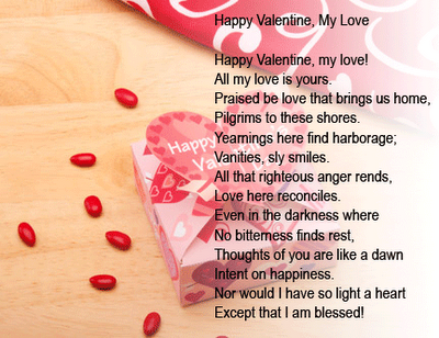 valentine poems make our love grow fonder
