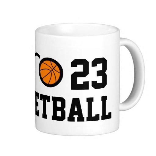Number 23 basketball mug | Personalizable