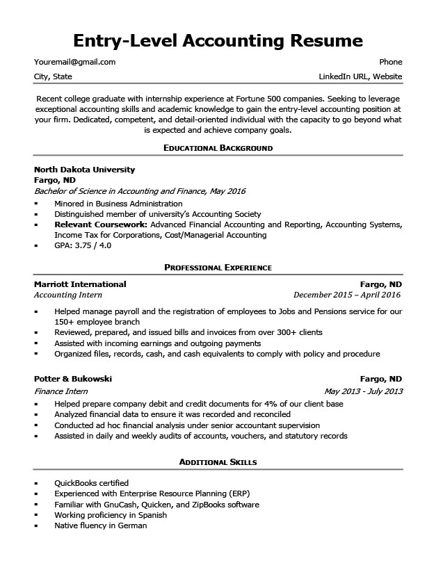 Accountant Resume Format 2019 2020 in 2020 Resume