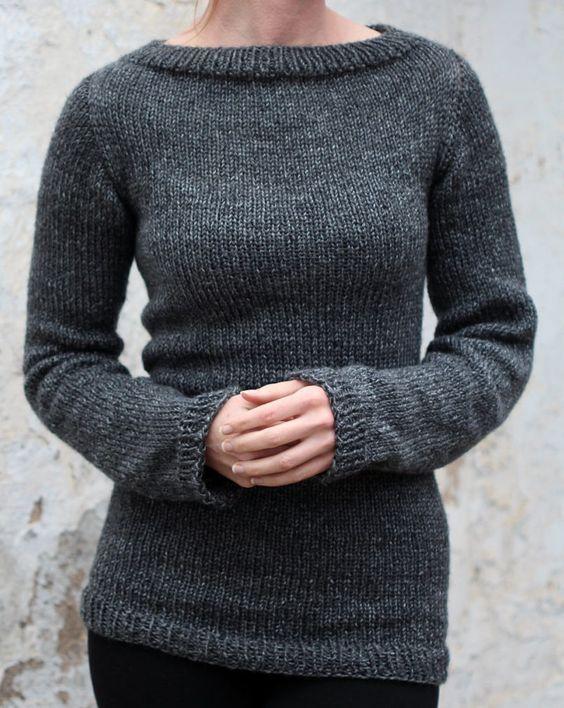 Knitting Pattern For Beginner Pullvoer Sweater The Designer Says