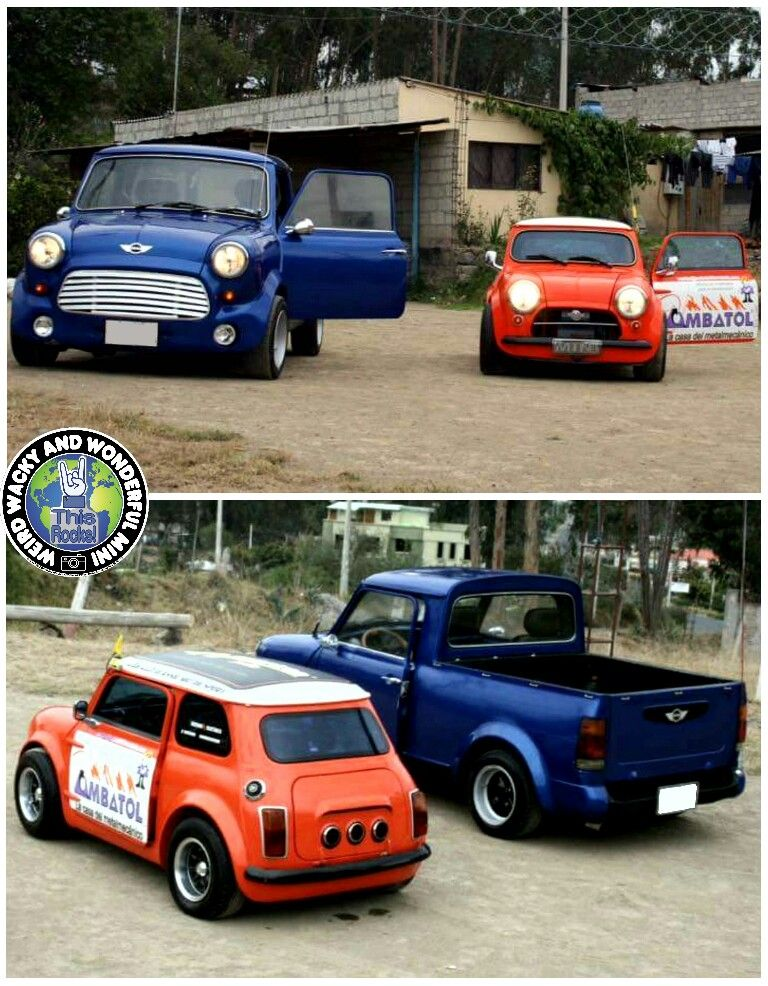 Mornin Miniacs Let S Get The Week Started With A Couple Of Custom Builds The Pickup Is Stunning But I Reckon It Mini Cooper Classic Classic Mini Mini Moderns