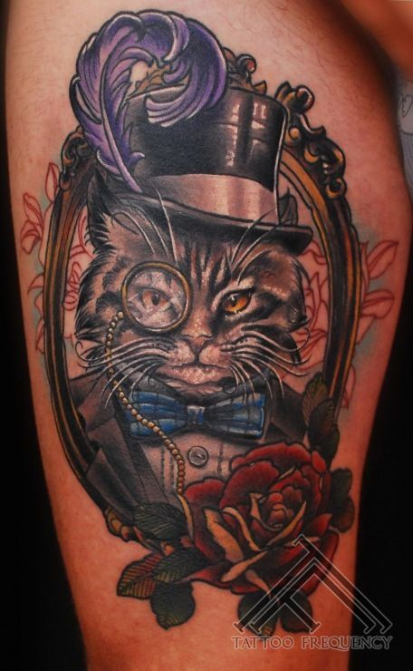 tabby cat with monocle tattoos - Google Search | Tattoos ...
