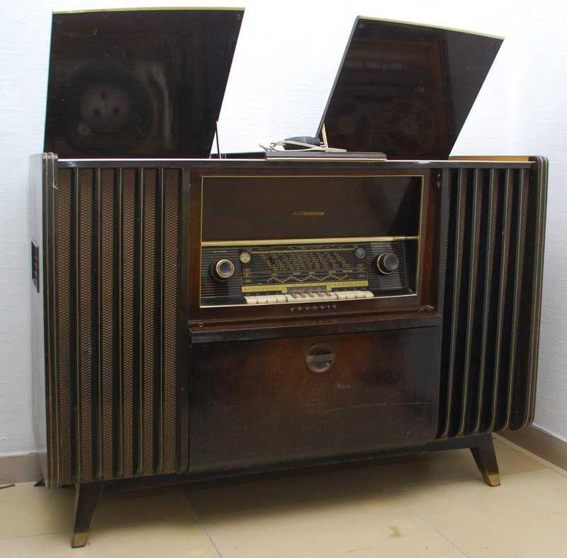 Grundig Musikschrank 9040W 1953 | Turntable Gallery | Pinterest ...