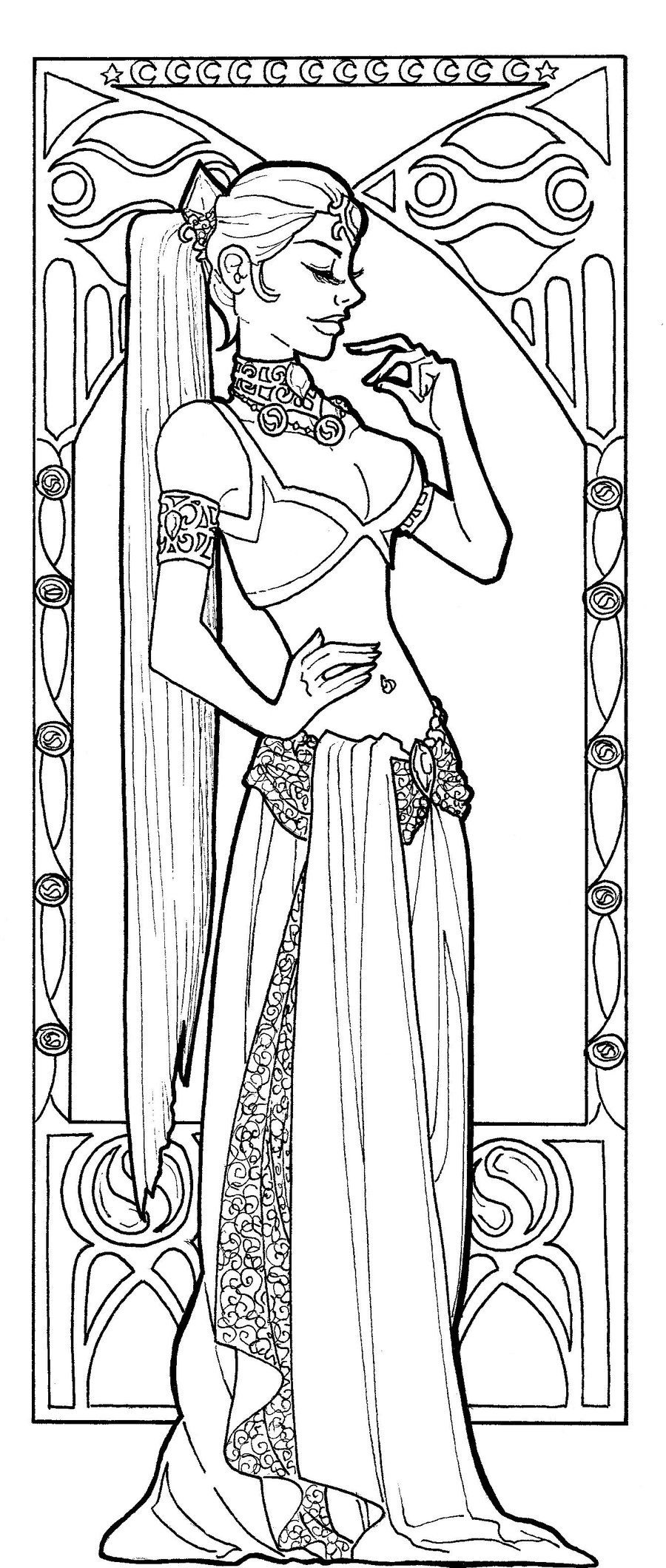 Art nouveau coloring pages to download and print for free | art ...