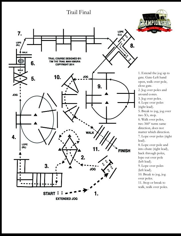 Try This Tricky Trail Pattern From The Finals At Aqhyaworld