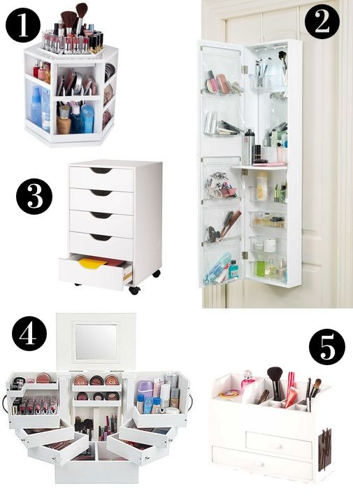 5 Pretty Makeup Storage Solutions to Store Your Stash  sc 1 st  Pinterest & 5 Pretty Makeup Storage Solutions to Store Your Stash | Pinterest ...