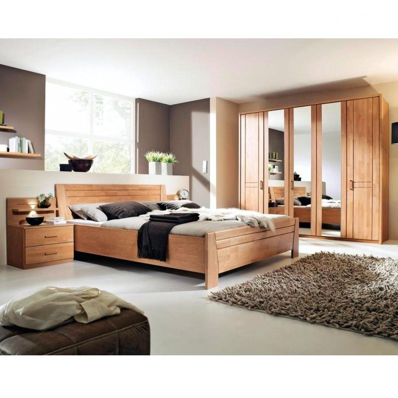 Sitara Schlafzimmer Erle Natur teilmassiv White