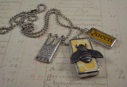 Queen Bee Charm Necklace