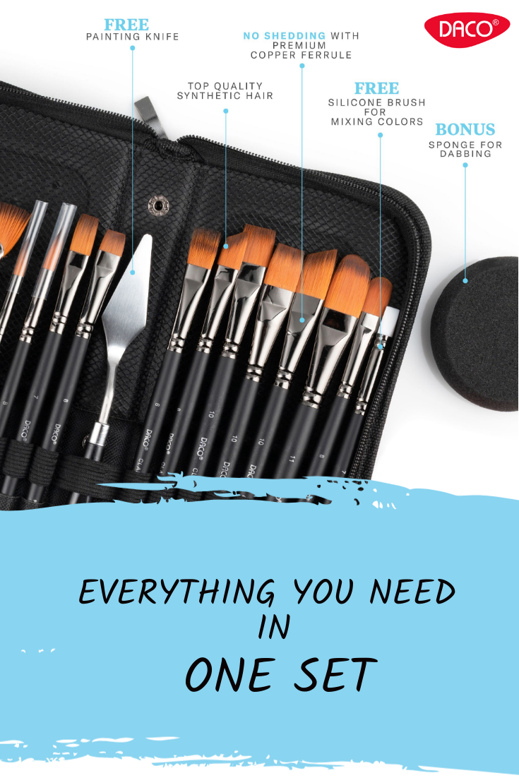 Daco Paint Brush Set Clarity in 2020 Oil paint brushes