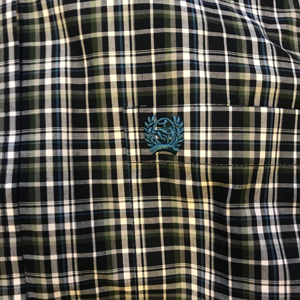 26196246 Men's Cinch 3XL Navy/Olive Plaid Print Long Sleeve Button Down Shirt ...