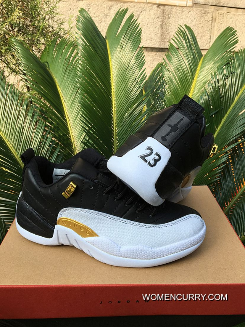 "Wings"" Air Jordan 12 Low Black  White New Release  ab468f1053e9"