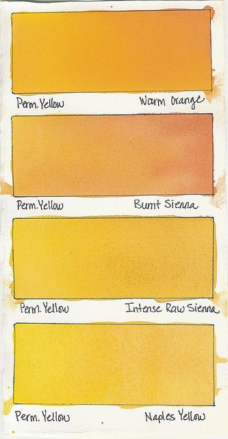 Permanent Yellow A Color Watercolor Tips Color Mixing