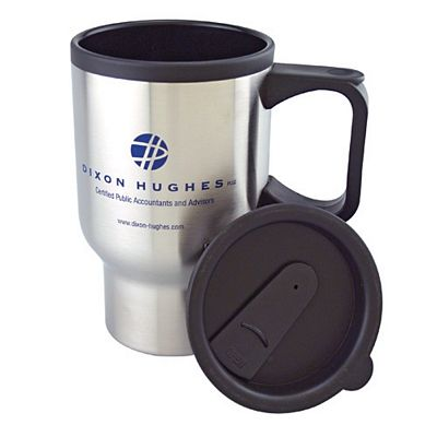Promotional 16 oz Stainless Steel Travel Mug with Plastic Liner