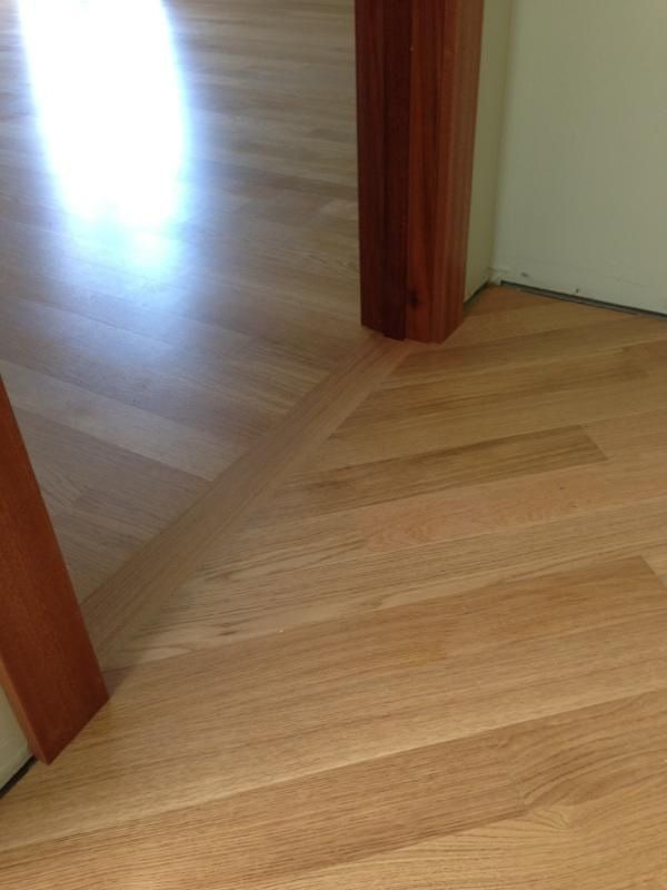 We Turned The Direction Of The Wood Into The Hallway For A Nicer Flow Into The Hall Hardwood Floors Flooring Hardwood
