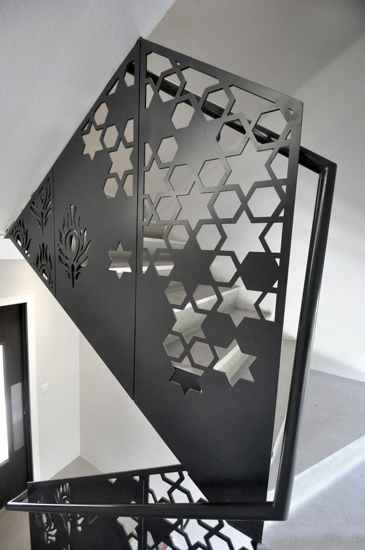 laser cut balustrade | merdiven | Metal dining table ...