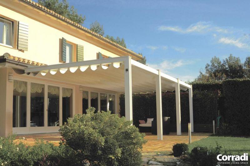 Design houten terrasoverkapping corradi pergolas in