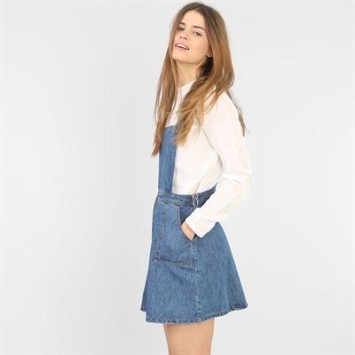 bas prix 0d5a0 041a7 Pimkie robe salopette femme   Mode   Denim skirt, Overall ...