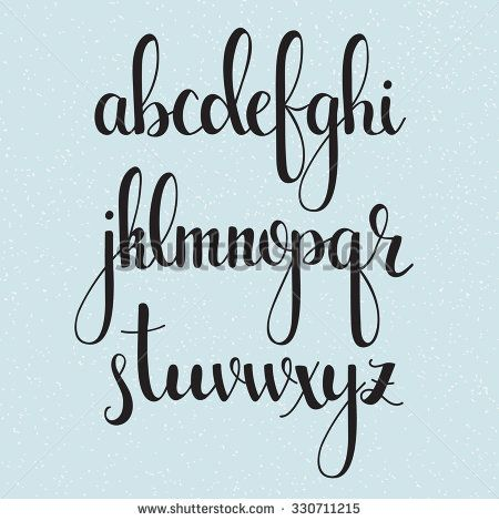 Handwritten Brush Style Modern Calligraphy Cursive Font Alphabet Cute Letters Isolated For Postcard Or Poster Decorative