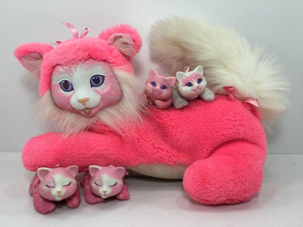 Hasbro Vintage Kitty Surprise 1992 Hot Pink Kitty Cat