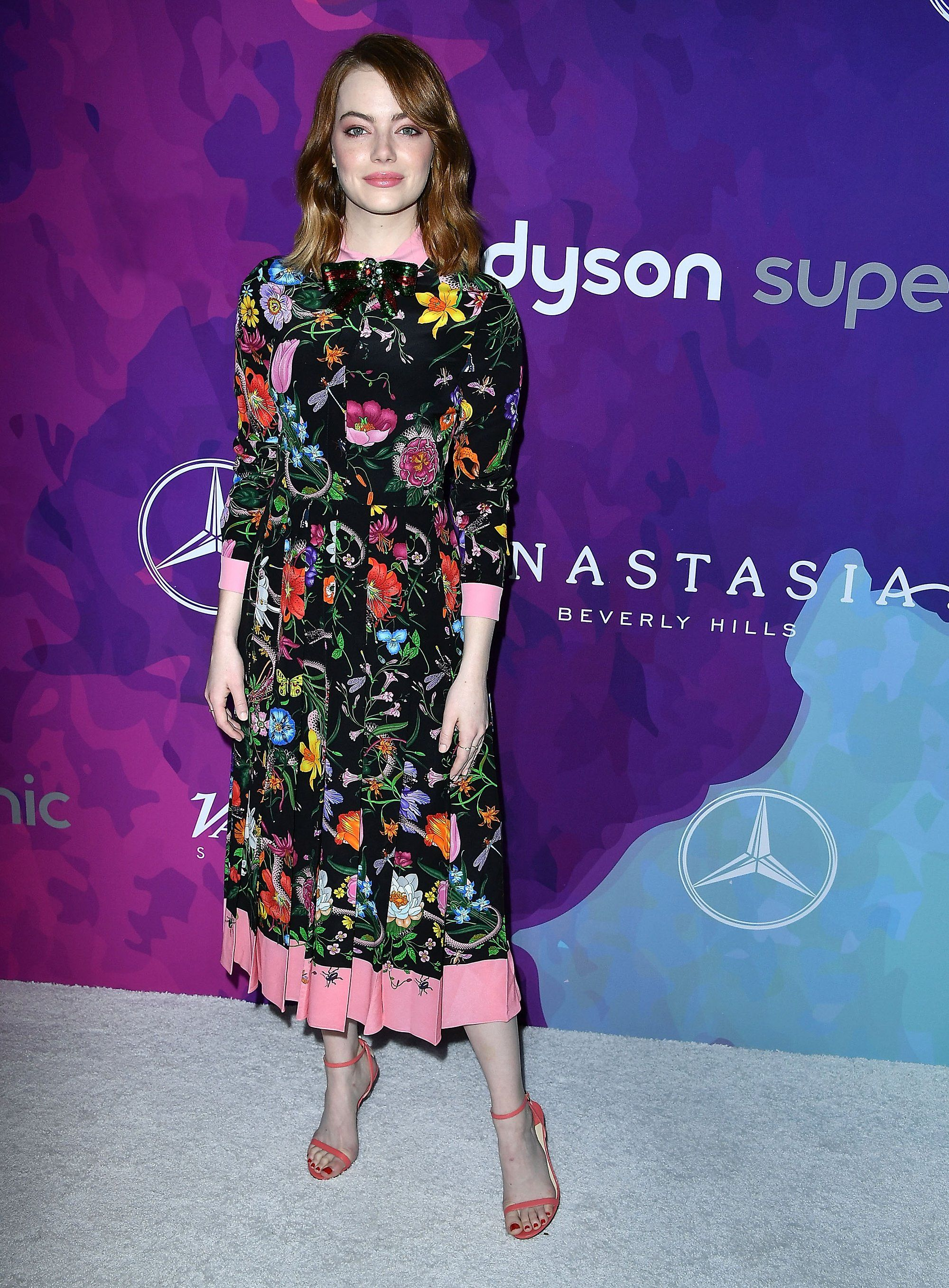 Emma Stone Goes Au Naturel in Gucci