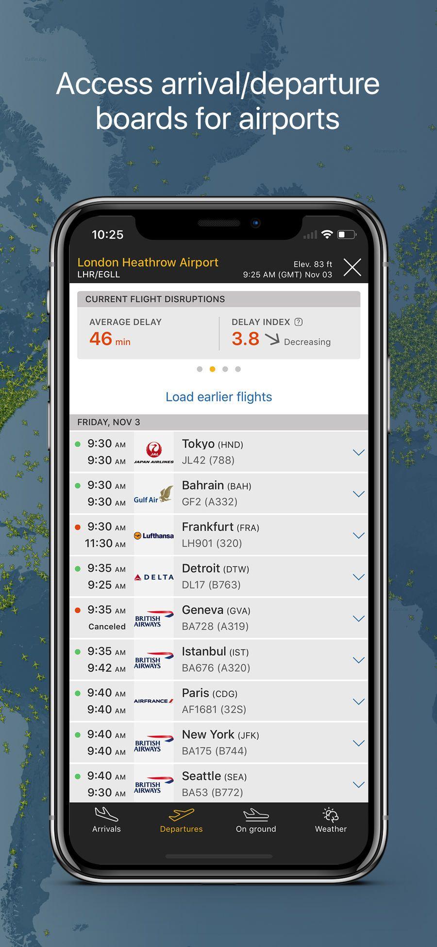 Flightradar24 Flight Tracker NavigationTravelappsios