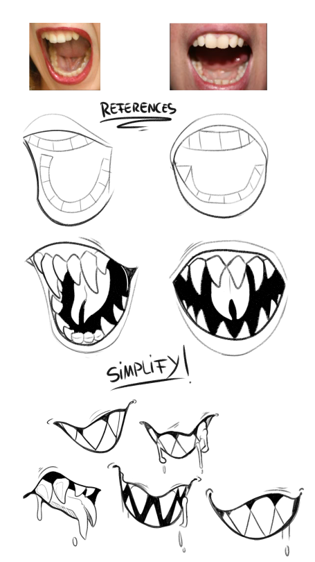 1 Tumblr Drawing Tutorial Mouth Drawing Drawing Reference