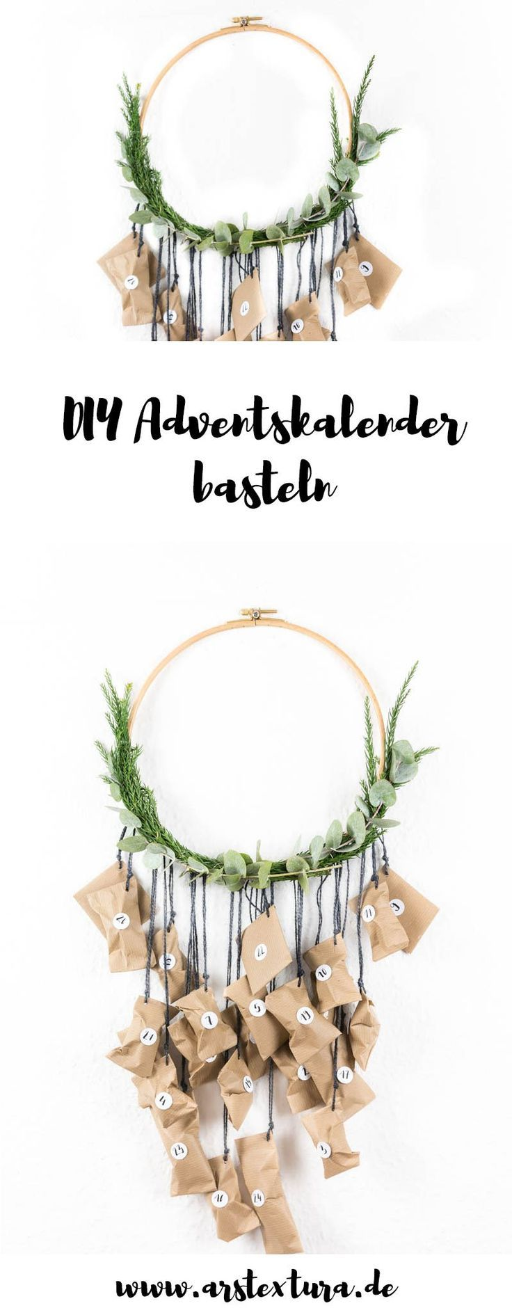 Adventskranz und Adventskalender basteln | ars textura - DIY-Blog
