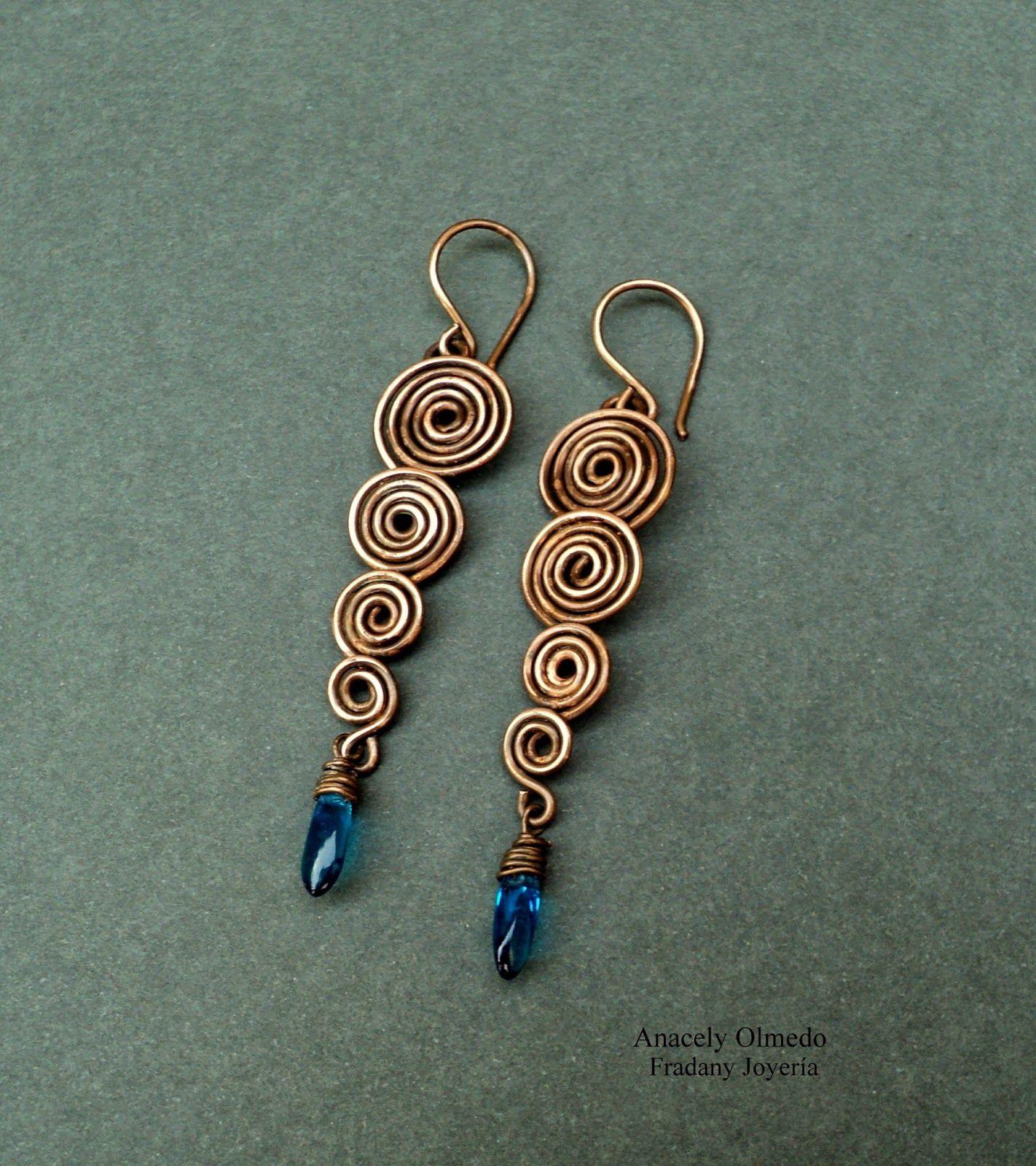 Fradany : Tutorial: Pendientes secuencia de espirales | Jewelry ...