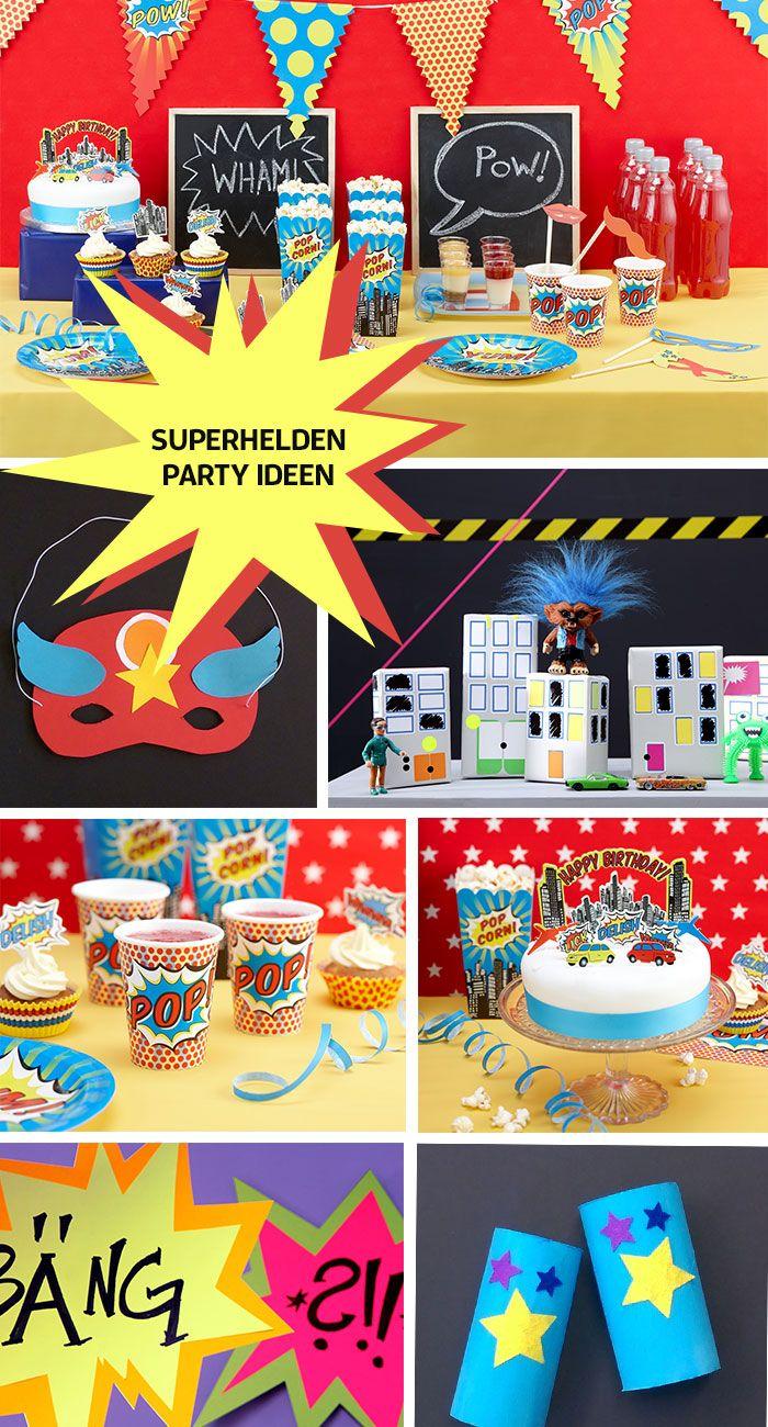 Tolle ideen f r die superhelden party superheldengeburtstag pinterest superhelden - Ideen geburtstagsfeier ...
