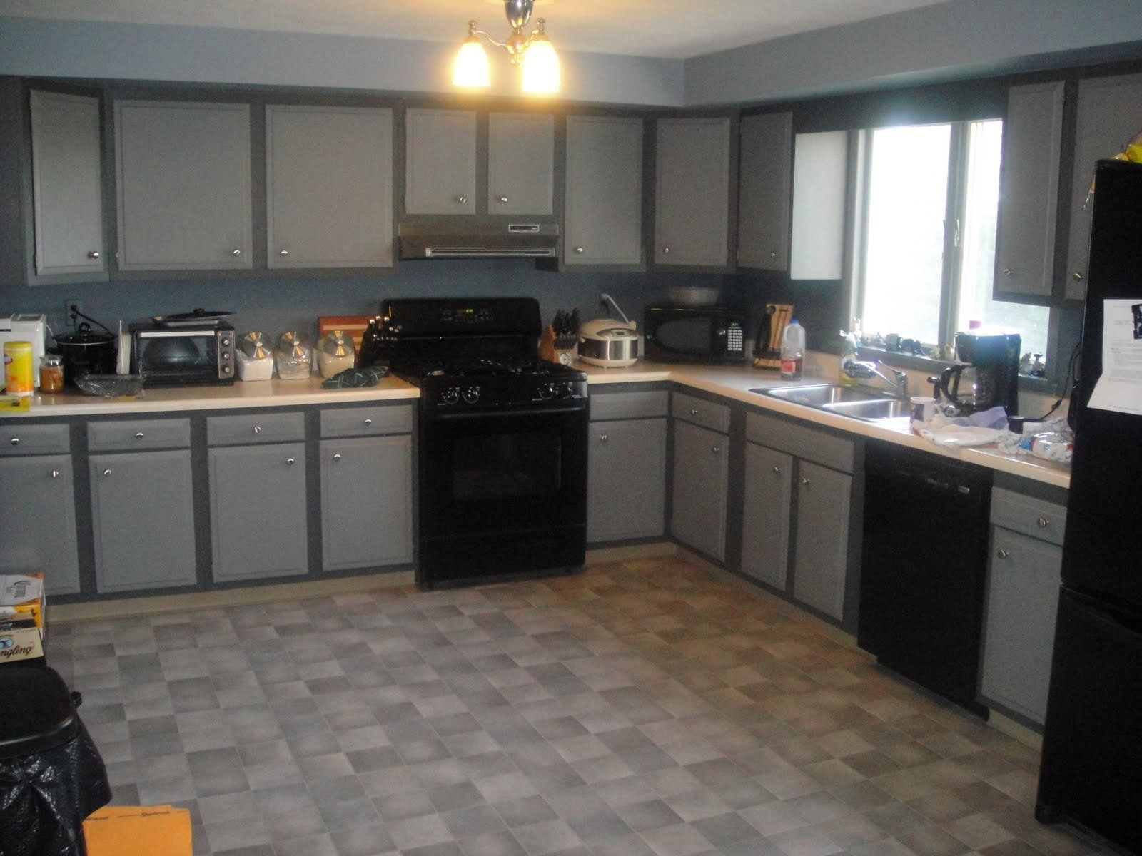 Furniture kitchen cabinets pictures with appliances for for Kitchen paint colors gray