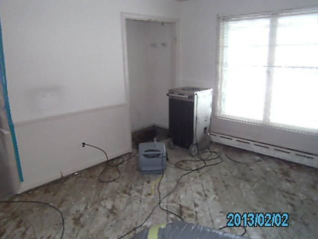 Baseboard Heat Supply Line Froze And Burst Causing Extensive Water Damage Before During And