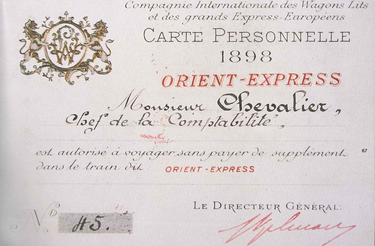 Ticket For The Famed Orient Express 1898 Orient Express Orient Train Travel