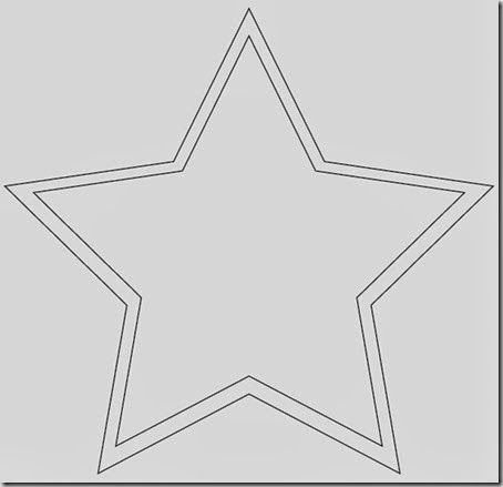 Plantillas estrella Navidad para imprimir