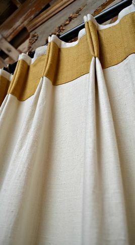 Double pli de pincement 30 ruban /Linen rideaux et toile de jute rideaux / panneaux / panneaux de salle de séjour / main rideaux  Également connu sous le plis français est l'un des plus somptueux de tous et sont un rideau classique et intemporel.  Comme avec tous les rideaux en pli cousu à la main je recommanderais que rideaux Double pli pincer accrocher en dessous du pôle pour permettre de suffisamment d'espace à l'automne comme il se doit. Ils travaillent aussi bien écré...
