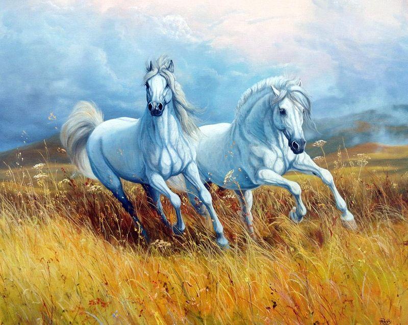 постер бегущая лошадь достаточно