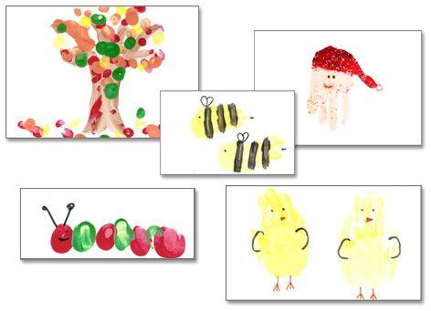 Christmas handprint calendars - kids craft