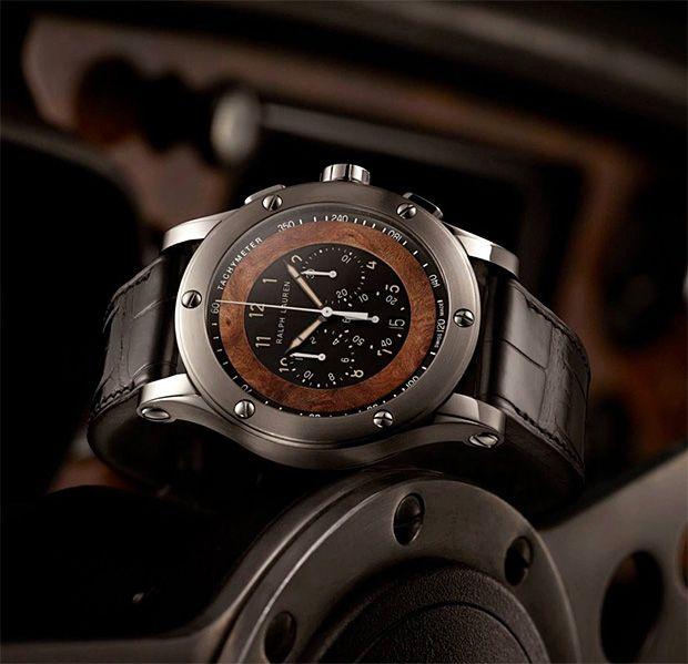Ralph Lauren Automotive Collection Steel Calfskin Watch